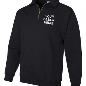 Jerzees 4528MR SUPER SWEATS Quarter-Zip Cadet Collar Sweatshirt